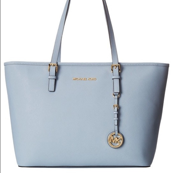 Michael Kors Handbags - Michael kors baby blue jet set